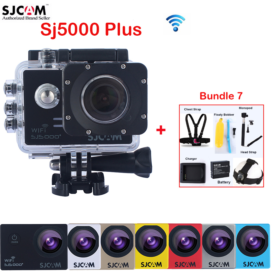 Original SJCAM SJ5000 Plus WiFi Diving 30M Waterproof Sports Action Mini Camera Sj 5000 plus Cam DVR With Various Accessories original sjcam sj5000x elite sj5000 plus sj5000 wifi sj5000 30m waterproof sports action camera sj cam dv with many accessories