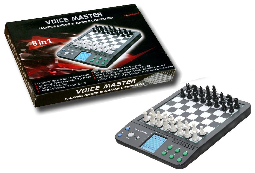 1 Pc 64 Grids Push Switch Talking English Germany Electronic Chess Computer Chess Magnetic Travel Teaching Program Beginners