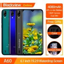 Blackview A60 Originele Smartphone 4080 Mah 19.2:9 Waterdrop Hd Scherm Mobiele Telefoon 1 Gb + 16 Gb Android 8.1 13MP + 5MP Rgb 3G Mobiele Telefoon