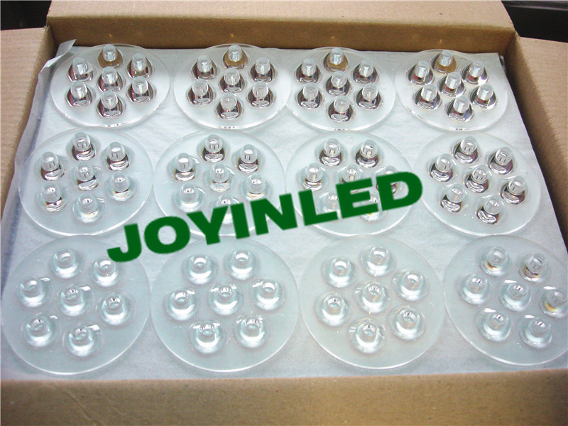 120pcs/ctn led (D)69 * (H)11mm 30 45 60 90 120 degree PMMA Ayrclic 7W Conjoined Twin Optical Lens 2pcs 150mm big optical pmma plastic round solar condensing compound eye fresnel lens improving brightness of light focal length