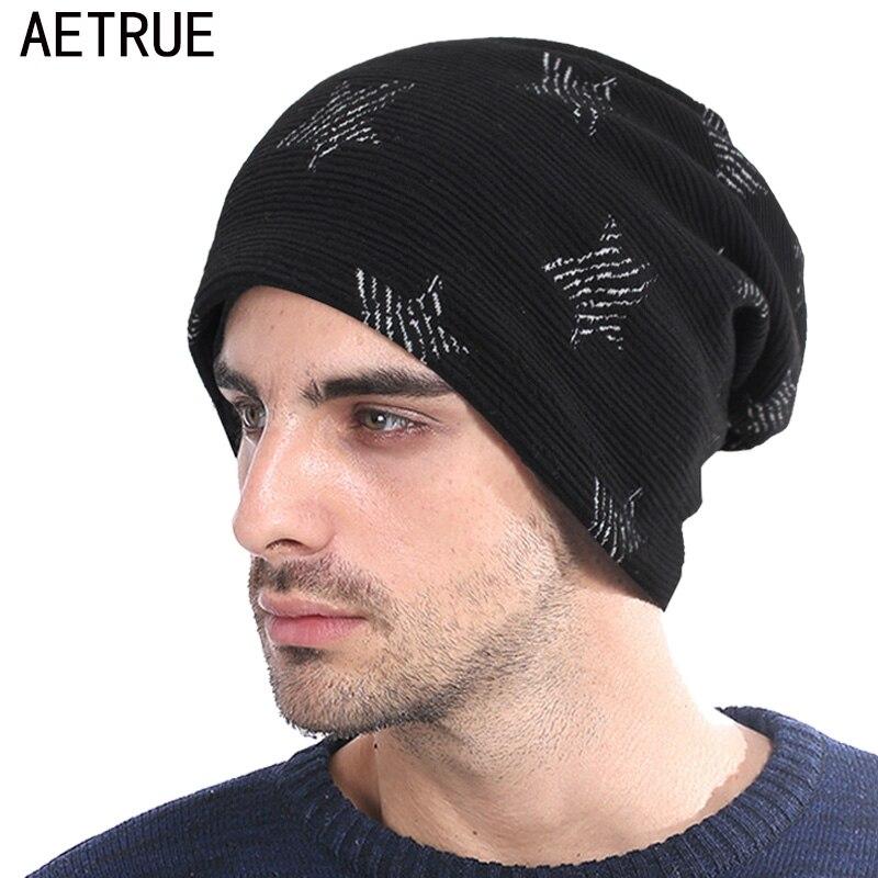 AETRUE Knitted Hat Men   Skullies     Beanies   Winter Hats For Men Women Bonnet Fashion Caps Warm Baggy Soft Brand Wool Male   Beanie   Hat
