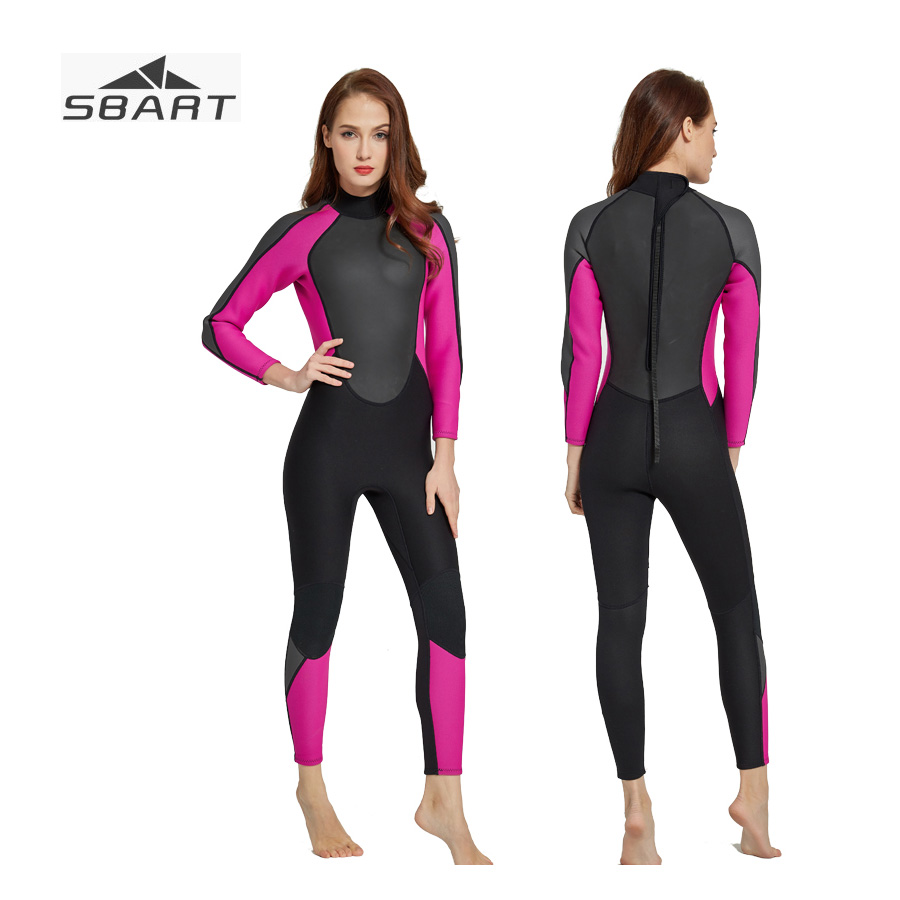 Sbart 3MM Neoprene Wetsuit for Women Spearfishing Diving Suit Separated Two pieces Full Body Ladies Wet suit Surfing Suit 2017 new sbart camouflage 3mm neoprene wetsuit spearfishing camo swimming surfing diving neoprene wet suit