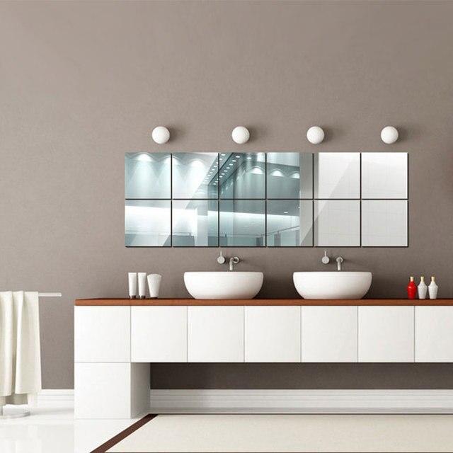 16 Pcs Espelho Adesivos De Parede DIY Wall Art Decor Wall Stickers Sala  Espelhado Autocolante Decorativo Part 89