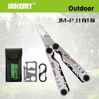 Jakemy Luminou Portable Folding Knife Set Multifunctional Army Knife For Hunting Camping Outdoor Survival Knife Card