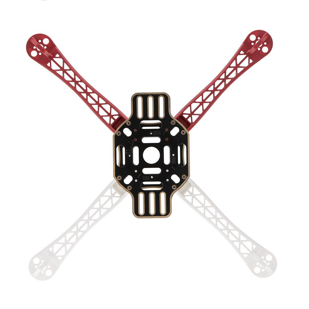 4-axis 450 F Frame -HJ 450 4-axis 450 F Frame Airframe Flame Wheel Strong Smooth KK MK MWC Quadcopter Red+White+Black hj x mode mwc alien multicopter quadcopter frame kit for r c helicopter red white black