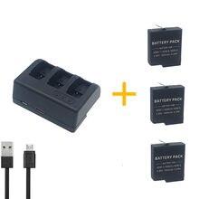 3 sztuk 1600 mAH AHDBT-501 AHDBT501 bateria do kamery GoPro HD Hero 5 Hero 6 Hero 7