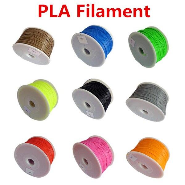 Makerbot reprap mendel UP 3D printer PLA 1 75mm 1kg 2 2lb filaments multicolor Plastic Consumables
