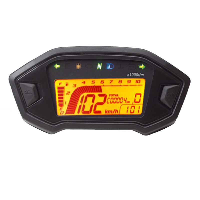 7 couleur Réglable Moto Tachymètre Compteur de Vitesse Numérique LCD numérique D'odomètre Cas Pour Honda MSX125 TYB003