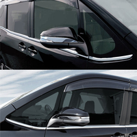 JY SUS304 Stainless Steel Rearview Mirror Garnish Cover Car Styling Trim Decoration For TOYOTA NOAH VOXY