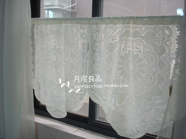US $8.88  Free shipping Jacquard lace country Mediterranean fresh rustic  kitchen curtains for living room bedroom coffee curtain-in Curtains from  Home ...
