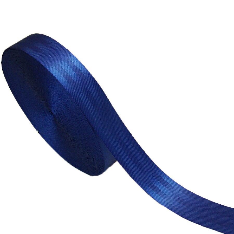Colore blu 47 millimetri tessitura auto cintura di sicurezza tessitura per cintura di sicurezza cinghia per seggiolino auto cinghia di spalla ad alta resistenza blu colore-in Cinghie da Casa e giardino su  Gruppo 1