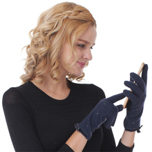 Fashion Ladies Wool Gloves Touch Screen Full Finger Autumn And Winter Warm A3065-5