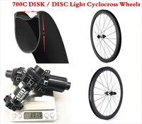 Ultralight Wheels 700c 50mm U Shape Tubeless Road Disc Carbon Rim 28mm Wide Clincher Wheelset Axle Cyclocross Road Wheel