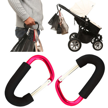 Baby Trendy Pushchair Diaper Bag Hanger Stroller Clip Hook Buggy Pram Carabiner 4pcs universal mummy buggy clip pram pushchair stroller hook shopping bag carabiner clip