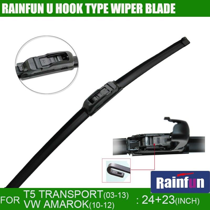 RAINFUN jh001 24 + 23 посвященный лезвие автомобиль стеклоочиститель для VW T5 транспорта (03-13), авто дворники, 2 шт. много