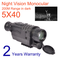 5x40 Zoom Video Record Tactical Night Vision Scope Device Digital Monocular Scope