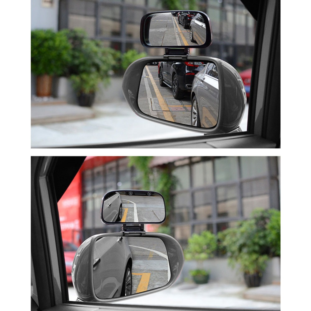 jxz03 2 unidades espejo adicional ajustable exterior gran angular muerto ángulo ciego
