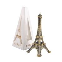 Paris Eiffel Tower Model Bronze Tone Decorative Furnishing Articles Decoration Vintage Craft Mold Figurine Statue Home Decor