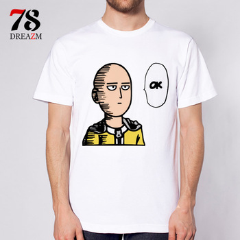 one punch man Anime mens t-shirt tops tees men tshirts homme clothing t shirt male men's tops tees