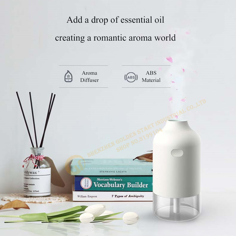 30ml/H Pureness Air Humidifier Simple Bottle USB Aroma Diffuser Household Mute Essential Oil Diffuser Desktop Air Purifie