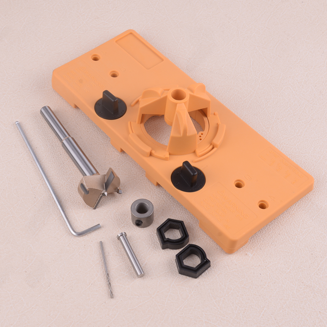 35MM Cup Style Concealed Hinge Jig Guide Set Boring Hole Template Bit Drill Woodworking