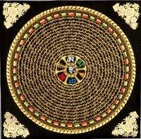 49*49 six words of Scripture / Mandala / Lama pure hand painted Guanyin mantra