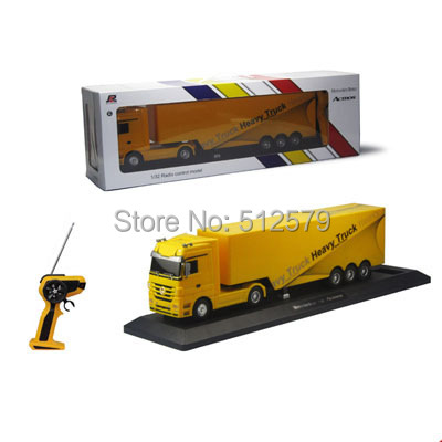 Kingtoy Detachable Electric Remote Control Big Size 1:32 RC 6CH container heavy truck with lights and sounds 4 Colors Car  remote control 1 32 detachable rc trailer truck toy with light and sounds car
