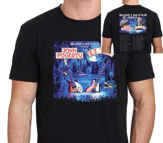 ZZ Top John Fogerty Blues   Bayous Tour 2018 T shirt men casual music gift tee  USA size S-3XL c146d7ff9680