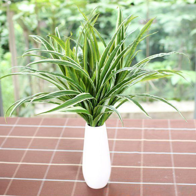 artificial spider plants chlorophytum intimation fake plastic green