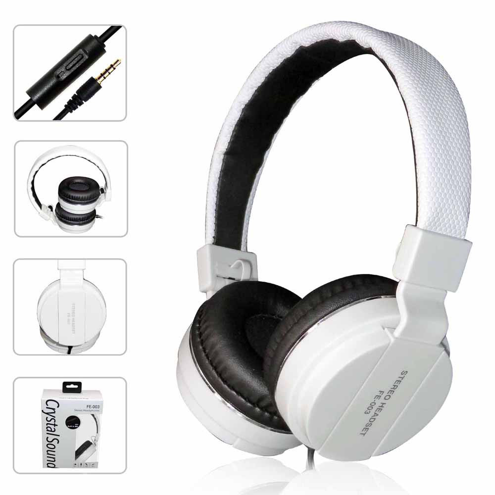 Portable Wired Headphones Hifi PC Computer Headset With Microphone 3.5mm Cable For Xiaomi Professional Studio DJ Headphone