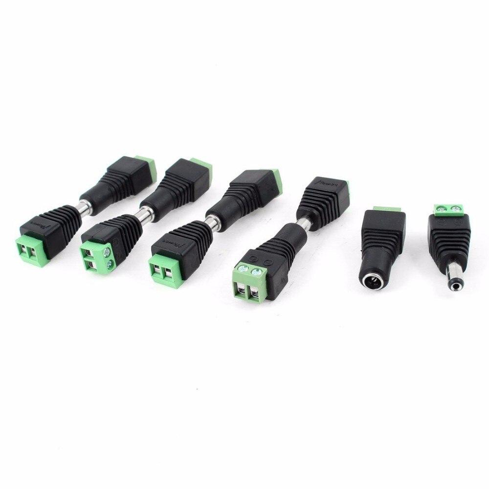 10 StÜcke 12 V 2,1x5,5mm Dc Power Male & Female Stecker Jack Adapter Cctv-kameras Anschlüsse Für Cctv System Wohltuend FüR Das Sperma