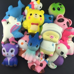 Tamaño grande sorpresa unicornio venta al por mayor Squishies lento aumento Jumbo chico muñeca juguetes lento aumento correas del teléfono dulce perfumada pastel juguete