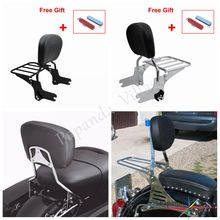 Motorcycle Detachable Luggage Rack Adjustable Passenger Backrest Pad Sissy Bar For Harley Touring FLHX FLTR FLHR FLHT FLHRC