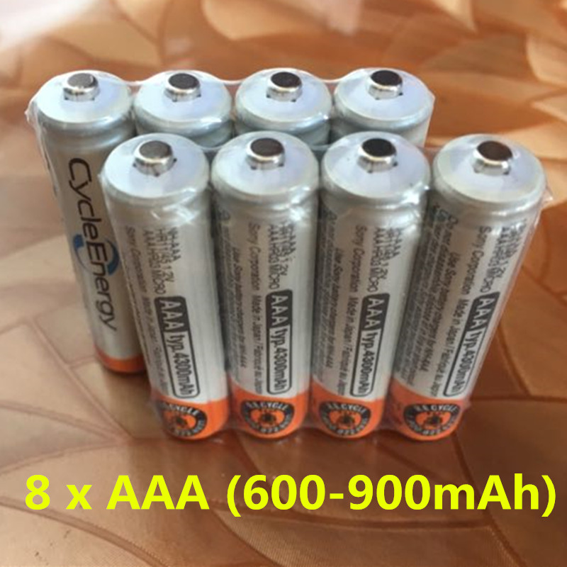 Free ship!! Hot Sale 8pcs High Power AAA /1.2V  (600-900)mAh Rechargeable NiMH Battery  New Batteries free shipping 4pcs aa nizn 1 6v 2500mwh high voltage rechargeable battery hot sale 3 5 hour fast charger