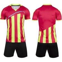 Respirável O-pescoço Manga Curta Survetement Futebol 2017 Camisas De Futebol Treino De Futebol Maillot de Pé Futebol Roupas