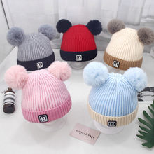 1PC Children Cute Toddler Kids Girl Boy Cap baby hat Infant Winter Warm Crochet Knit Cute Baby Beanie Cap Drop Shipping from US(China)