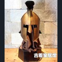 Can wear a helmet decorated model / European antique crafts ornaments retro / 300 Spartans helmet