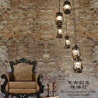 Treppen lichter retro Revolving treppen anhänger retro retro kerosin lampe treppen lampe bar Cafe Vintage pferd lampe Anhänger Lichter FG39-in Pendelleuchten aus Licht & Beleuchtung bei