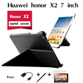 Для Huawei honor X2 tablet телефонные аппараты кобура случае поддержки деформации оболочки модель флип Pu кожаный чехол чехол + ручка + otg + пленка