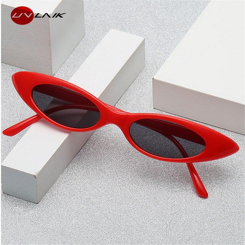 Gafas de sol clásicas pequeñas UVLAIK gafas de sol Retro de diseñador de marca de ojo de gato gafas de sol montura femenina gafas ovaladas
