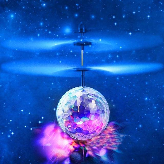 RC Flying Ball Luminous Hot Sale Children's Flight Ball Electronic Infrared Induction Aircraft LED Light Mini Heli Toy