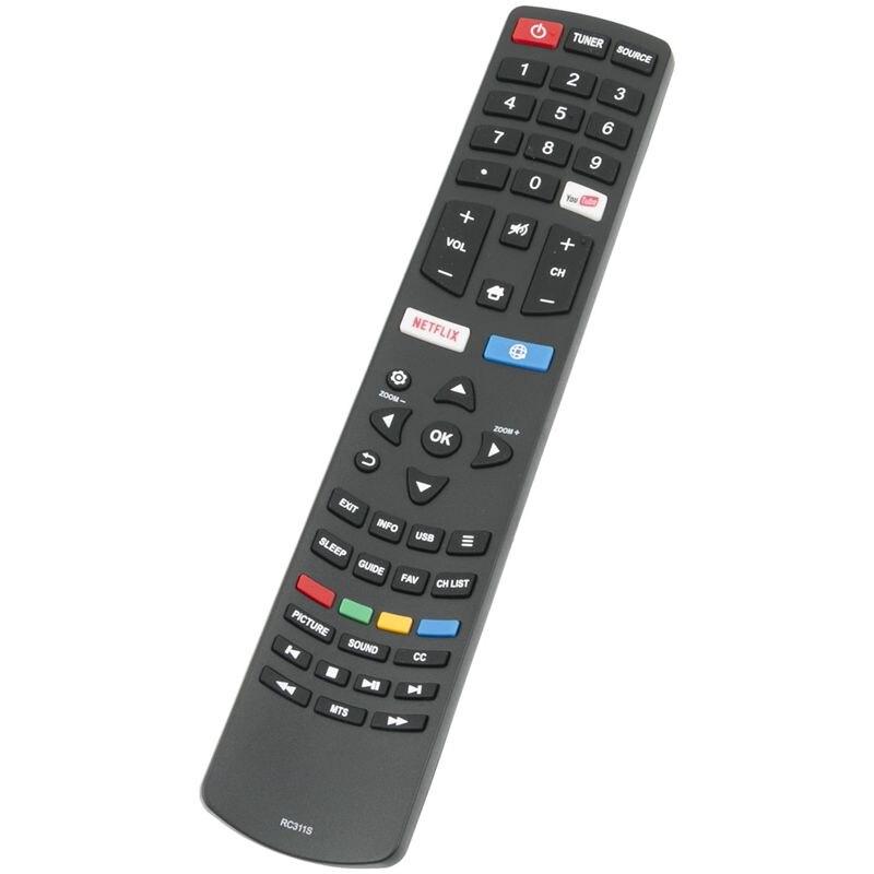 06 שלט רחוק חדש RC311S החלף עבור TCL Smart LED LCD TV 06-531W52-TY01X (2)