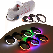 LED Luminous Shoe Clip Outdoor Bicycle Night Running light shoe clip night running safety warning