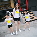 Casual Family Matching Outfits Mother/Mom and Daughter Clothes Father Son Clothing Mom Baby T shirt Clothes Family Clothing HH06