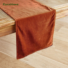 ESSIE HOME Caramel Warm Honey Double Side Matte Velvet High End Table Runner Table Cloth Table Runner Placemat недорого