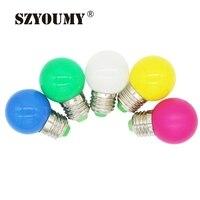 SZYOUMY E27 AC110 250V энергосбережения светодио дный лампа 1 Вт красочные светодио дный лампа домашнего декора освещение пузырь светодио дный лампы