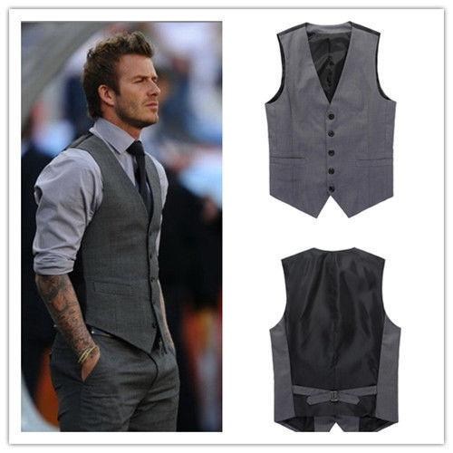 only vests outerwear mens vest man casual suits slim fit stylish short coats suit blazer gray and black wedding mens v nest