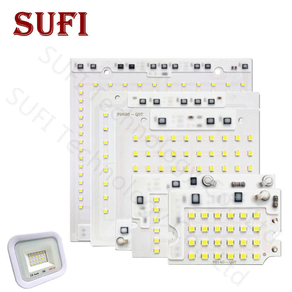 LED Lamp Chips AC220V 10W 20W 30W 50W 100W Smart IC SMD 2835 For outdoor submarine lighting square floodlight advertising light