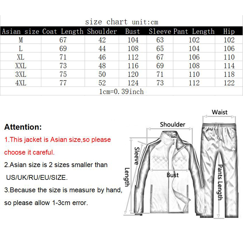 Image 5 - New Sporting Sets Fleece Thick Hooded Brand Clothing Casual Track  Suit Men Jacket Pant Warm Fur Inside Winter SweatshirtMens Sets   -