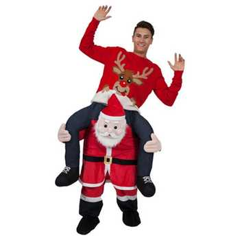 Funny Santa Claus Costume Ride on Me Animal Pants Carry Back Fancy Up Party Costume Christmas Festival Clothes - DISCOUNT ITEM  25% OFF All Category